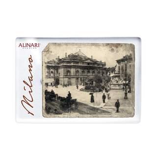 Plexiglass magnet Milan Piazza della Scala Alinari
