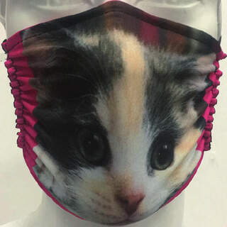 Kitten Mask with Red