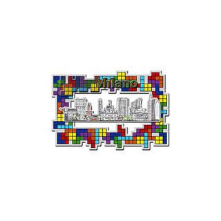 3D squared Plexiglass magnet