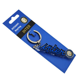 Plexiglass keyring written Inter