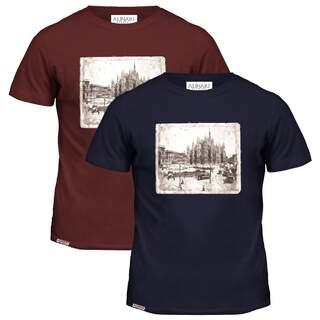 Milan Duomo Alinari Flag Patch T-shirt