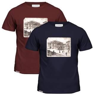 Patch Flag Milan Piazza della Scala Alinari t-shirt