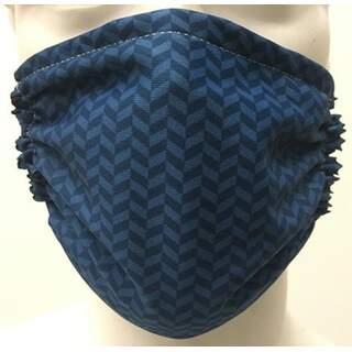 Blue Pattern Mask