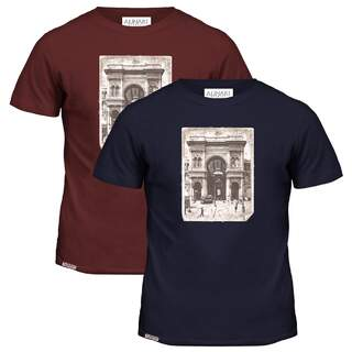 Milan Flag Patch T-shirt Galleria Alinari
