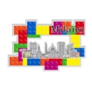 3D brick Plexiglass magnet