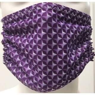 Violet Pattern Mask