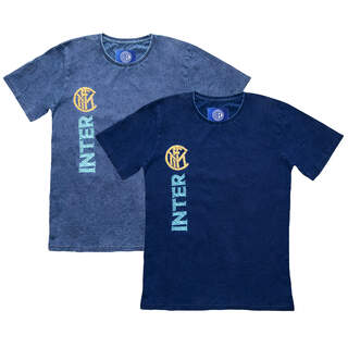 Vertical embroidery T-shirt